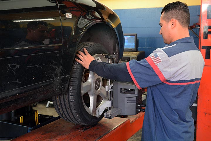 We offer full brakes and alignment services.